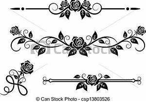 Vector Illustration of Rose flowers with vintage elements