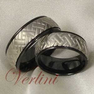 8mm titanium rings wedding bands black tire design bridal jewelry size 6 13