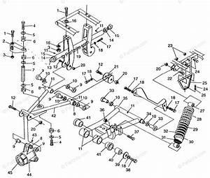 Polaris Atv 1996 Oem Parts Diagram For Rear Suspension Sportsman 500  U0026 Swedish Sportsman 500
