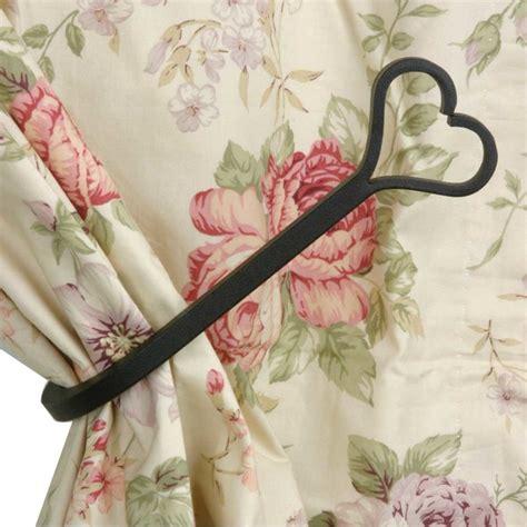 tie backs black wrought iron curtain tie back 8 1 2 l
