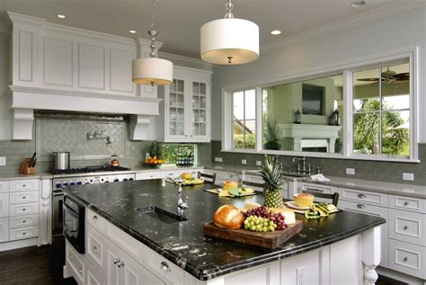 Backsplash With White Cabinets And Granite by Titanium Granite White Cabinets Backsplash Ideas