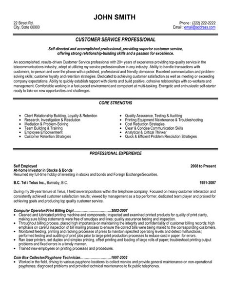 Professional Resumes Services by Customer Service Professional Resume Template Premium