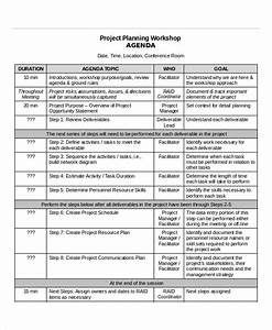 project agenda template 6 free word pdf documents With workshop planning checklist template