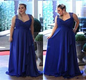 Elegant Plus Size Royal Blue Bridesmaid Dresses Lace ...