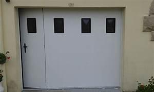 porte de garage laterale coulissante pvc manuelle With porte de garage enroulable avec porte fenetre pvc coulissante