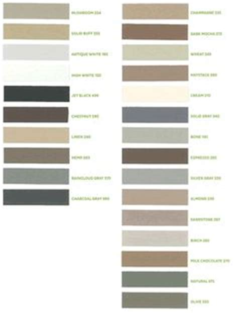 color chart lists   names   kohler toto