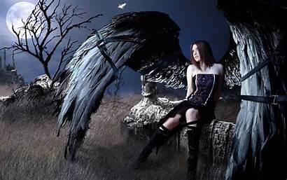 Dark Fantasy Angel Evil Artwork Gothic Bondage