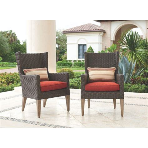 resin wicker patio furniture home depot home decorators collection naples brown all weather wicker