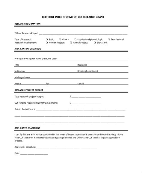 sample letter  intent  examples   word