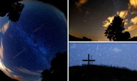 perseid meteor shower latest pictures  stunning shower