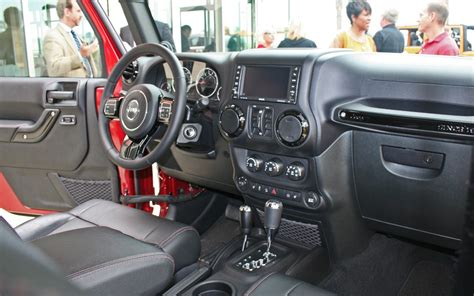 jeep rubicon interior first look production interior of the 2018 jeep wrangler
