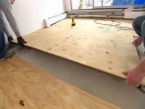 lay a subfloor if needed orlando wood floor orlando With best floor leveler for plywood