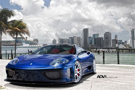 Just recently finished the install on my ferrari 360. Blue Ferrari 360 With a Low Stance and Mirror Polished ADV1 Rims — CARiD.com Gallery
