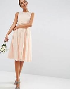 robe mi longue rose poudre With robe évasée mi longue