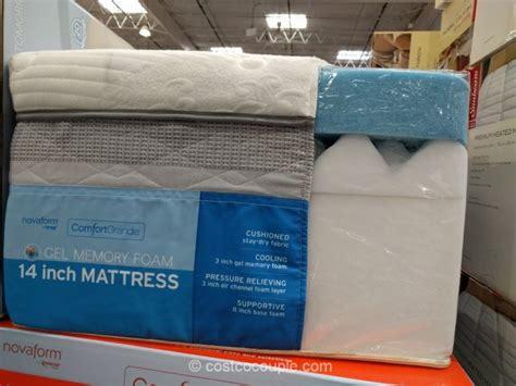 costco memory foam mattress novaform comfortgrande gel memory foam mattress