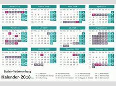 FERIEN BadenWürttemberg 2018 Ferienkalender & Übersicht