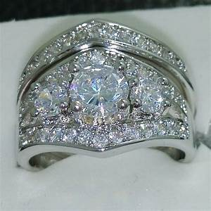 cool nice 10kt gold filled white topaz diamonique wedding With diamonique wedding rings sets
