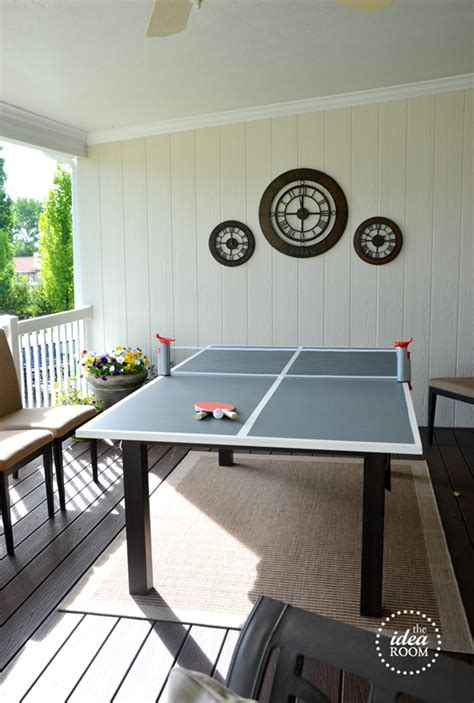 homemade ping pong table diy ping pong table