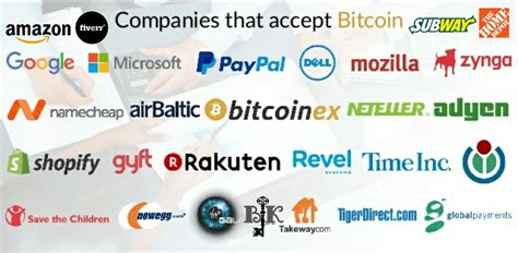 bitcoin company who accepts bitcoin list of companies that accepts