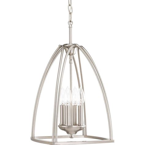 progress lighting tally collection 4 light brushed nickel