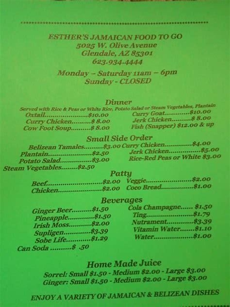 menu semaine cuisine az esther s food 22 photos caribbean glendale