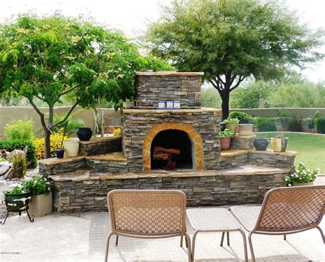 Outdoor Patio And Fireplace Ideas Dream Home For Door