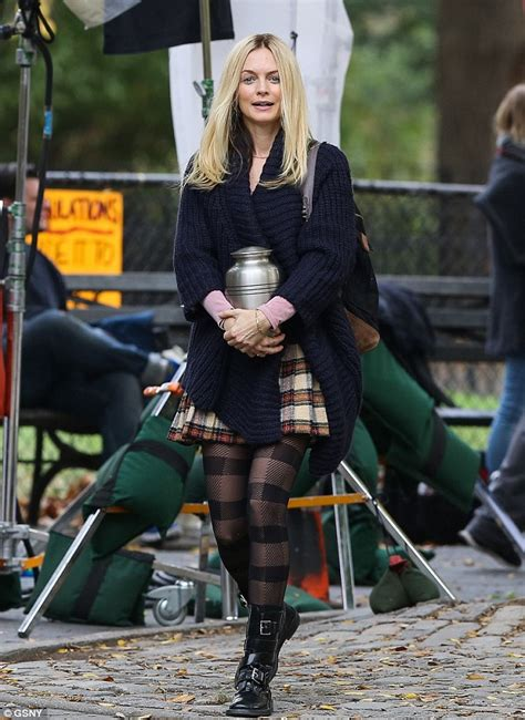 graham 43 shows bare midriff on set of new comedy my dead boyfriend daily