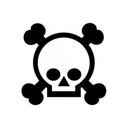 sticker tete de mort mural etiquette autocollant