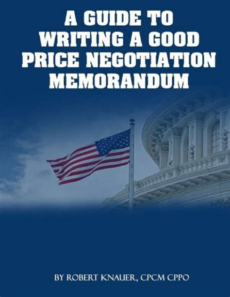 guide  writing  good price negotiation memorandum