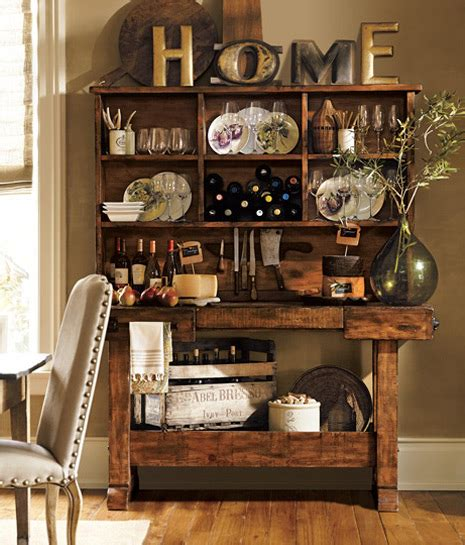 using accessories to arrange your kitchen pottery barn