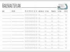 HaushaltsmuffelPutzplan für WGs mit Vorlage zum Download