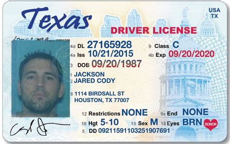 New Texas Drivers License Template Incheonfair