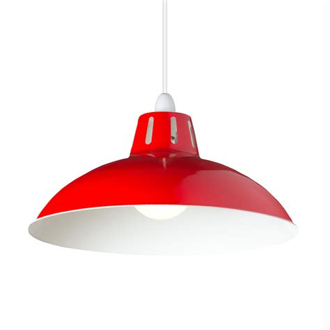bright red l shade large cut out dome metal lighting pendant shades red