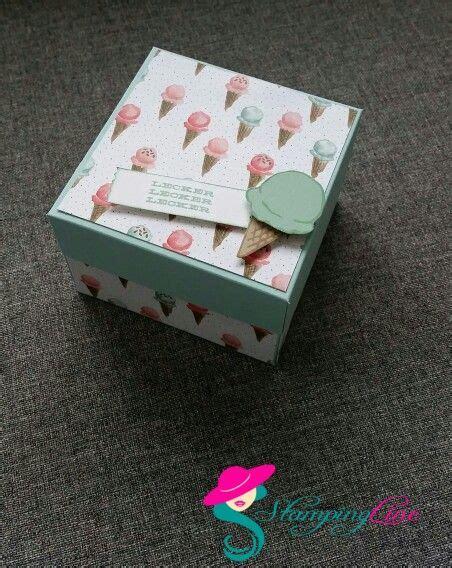 gutscheine schön verpacken anleitung eis gutschein box basteln karten basteln und box
