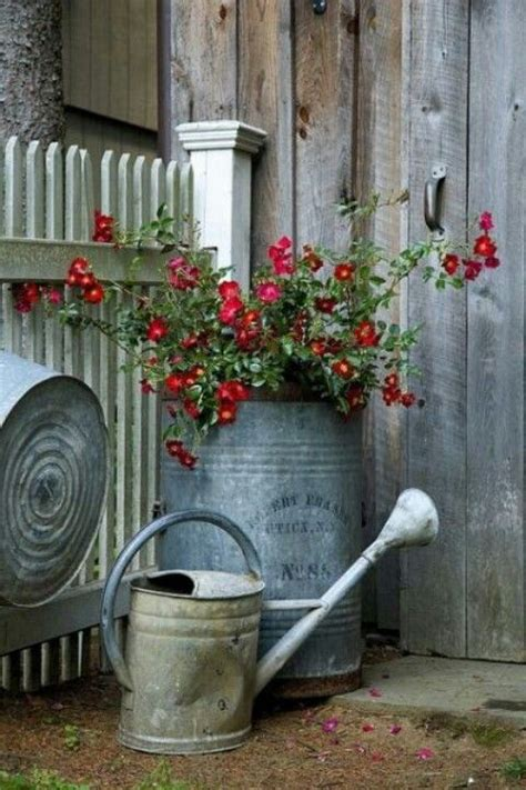 Best Images About Old Milk Cans Pinterest Gardens
