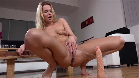 Blonde Squirts Over Dildo While Masturbating Xbabe Video
