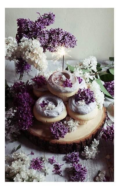 Cupcakes Gifs Birthday Cupcake Lavender Happy Jakfruit