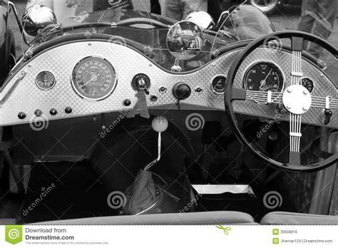 Vintage British Sports Car Interior Royalty Free Stock