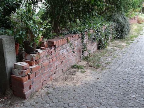 alte gartenmauer sanieren alte ziegel gartenmauer sanieren und gestalten selbst de