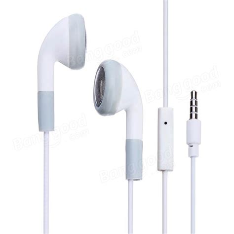 iphone 4 headphones white earphone headphone headset with mic microphone for