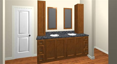 bathroom vanity  drawing customhomedesign nashville