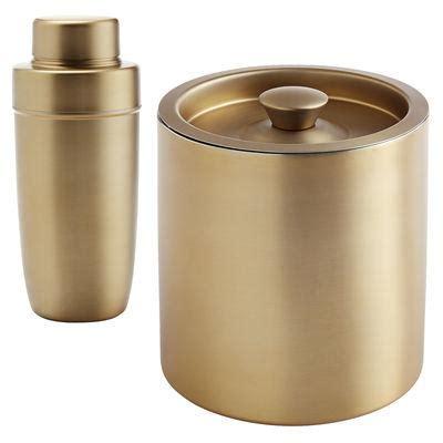 Gold Bar Accessories by Matte Metallic Bar Accessories In Gold