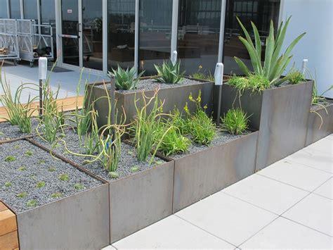 corten steel planter roof terrace nice planter llc