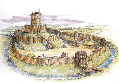 types  castle pre norman wooden motte beiley castle