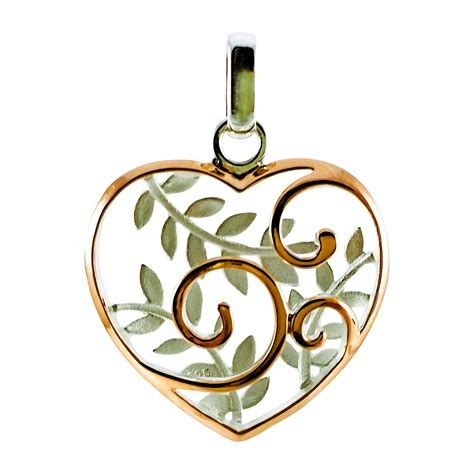 Sterling/Rose Gold Plate Koru Heart Pendant - Gold n Gifts ...