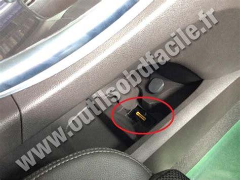 OBD2 connector location in Renault Espace V (2015 ...
