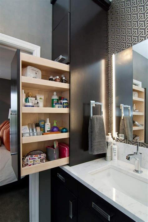 pull  bathroom storage ideas   clutter