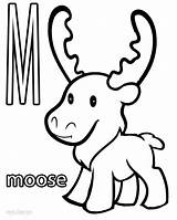 Moose Coloring Printable Cool2bkids sketch template