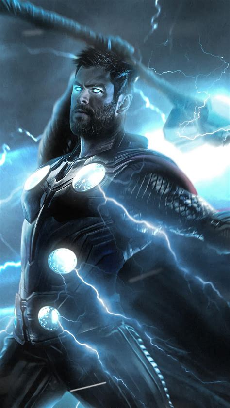Avengers Endgame Thor iPhone Wallpapers - Wallpaper Cave