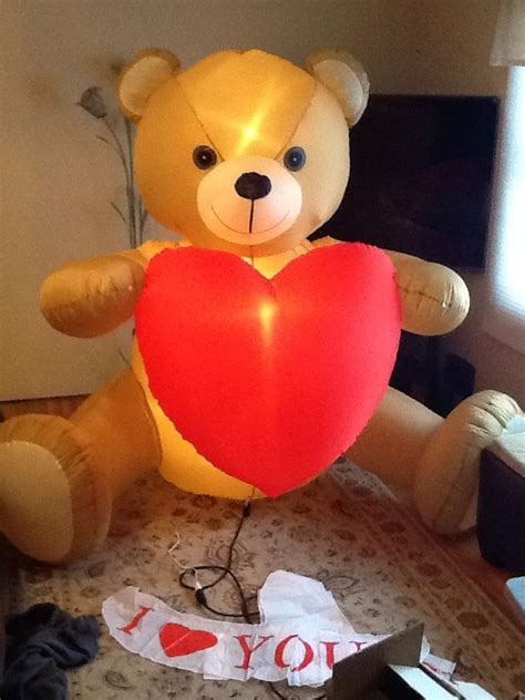 airblown inflatable christmas valentines day teddy bear
